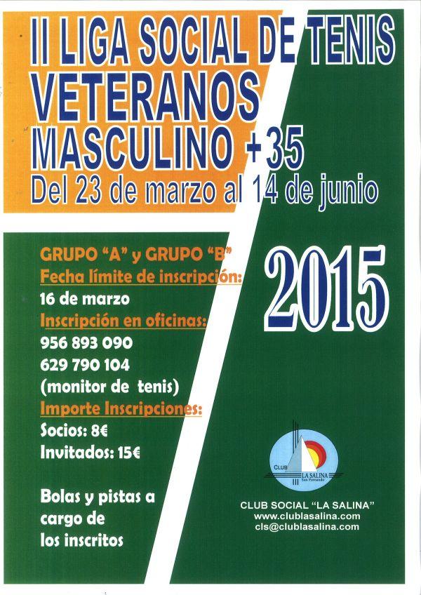 II LIGA SOCIAL DE TENIS VETERANOS +35