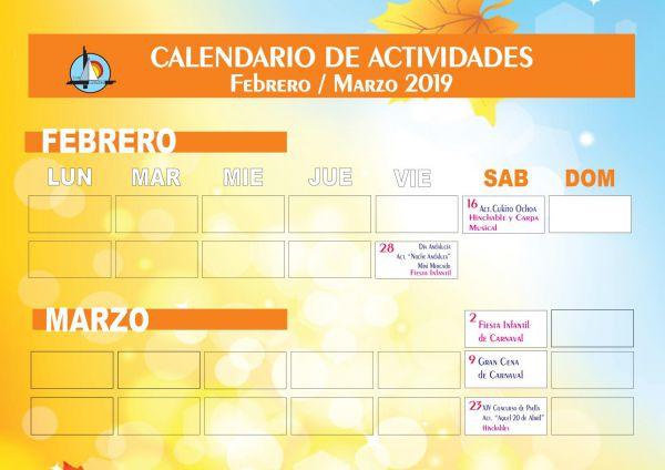 PROGRAMA FIESTAS FEBRERO MARZO 2019