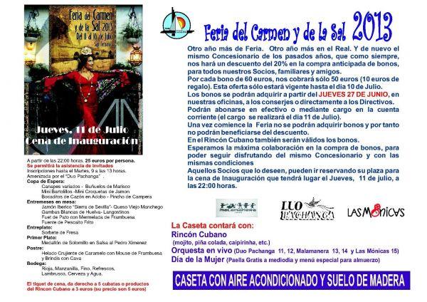 FERIA DEL CARMEN Y DE LA SAL 2013