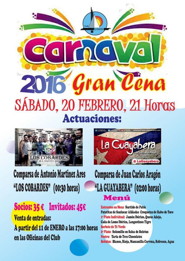 GRAN CENA DE CARNAVAL 2016