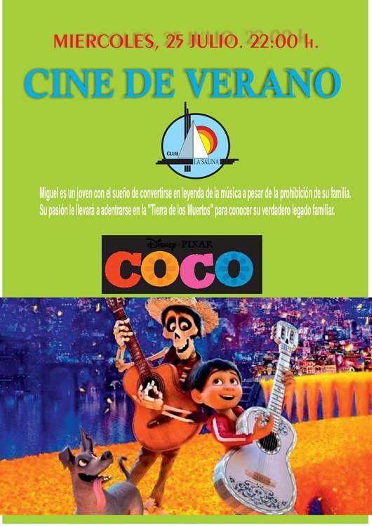 CINE DE VERANO, MIÉRCOLES 25