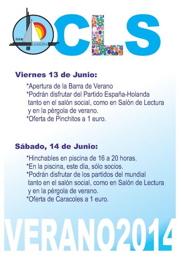 ACTIVIDADES FIN DE SEMANA 13-14 JUNIO
