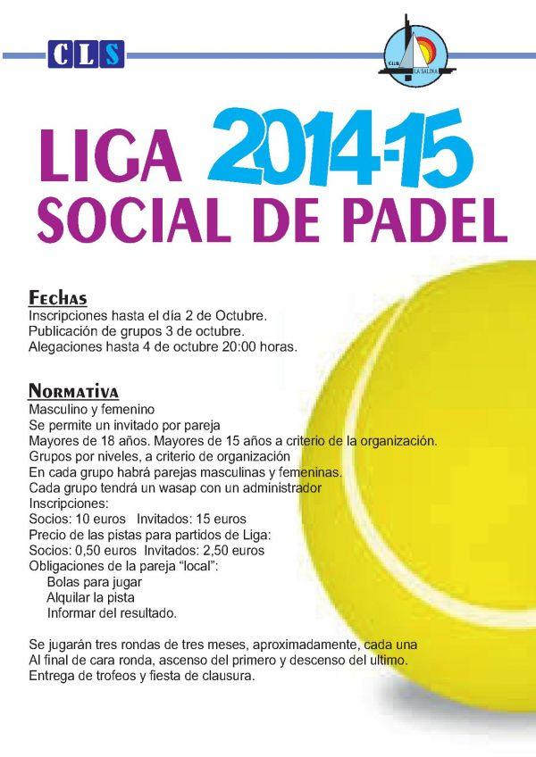 LIGA SOCIAL DE PADEL 2014-2015
