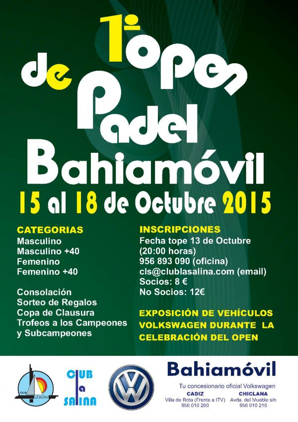 I OPEN PADEL CLUB LA SALINA BAHIAMOVIL