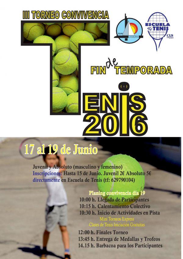 TORNEO TENIS FIN DE CURSO 2015-2016