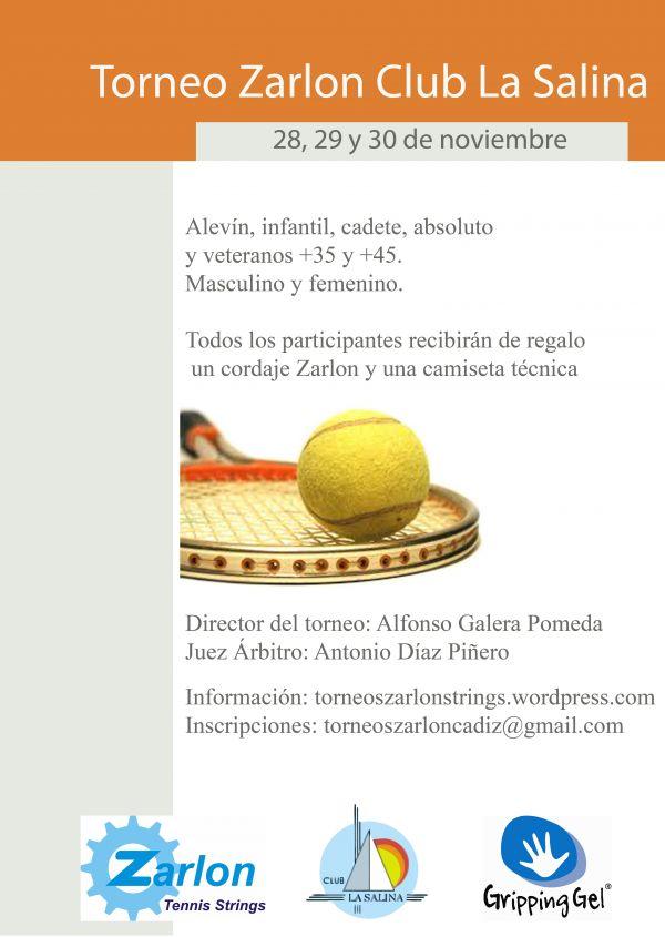 TORNEO DE TENIS FEDERADO ZARLON CLUB LA SALINA