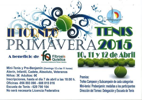 TORNEO TENIS PRIMAVERA 2015