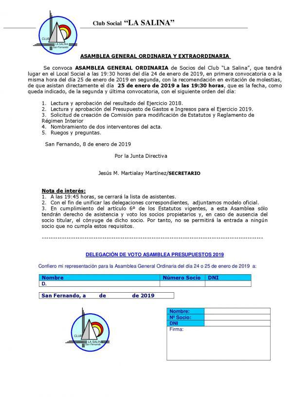 ASAMBLEA GENERAL ORDINARIA Y EXTRAORDINARIA DE SOCIOS PROPIETARIOS