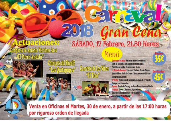 GRAN CENA DE CARNAVAL 2018