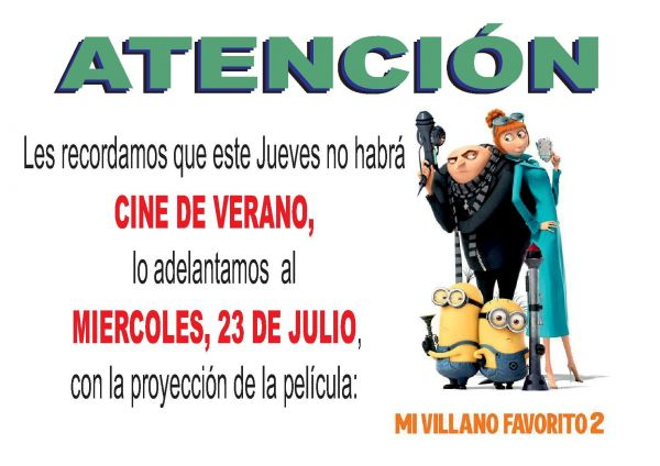 CINE DE VERANO Y PALOMITAS