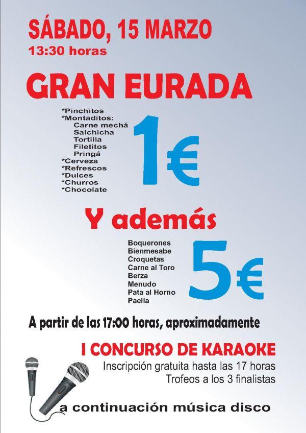 GRAN EURADA CLUB LA SALINA. SÁBADO, 15 MARZO