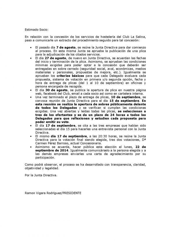 CONCESIÓN SERVICIOS DE HOSTELERÍA