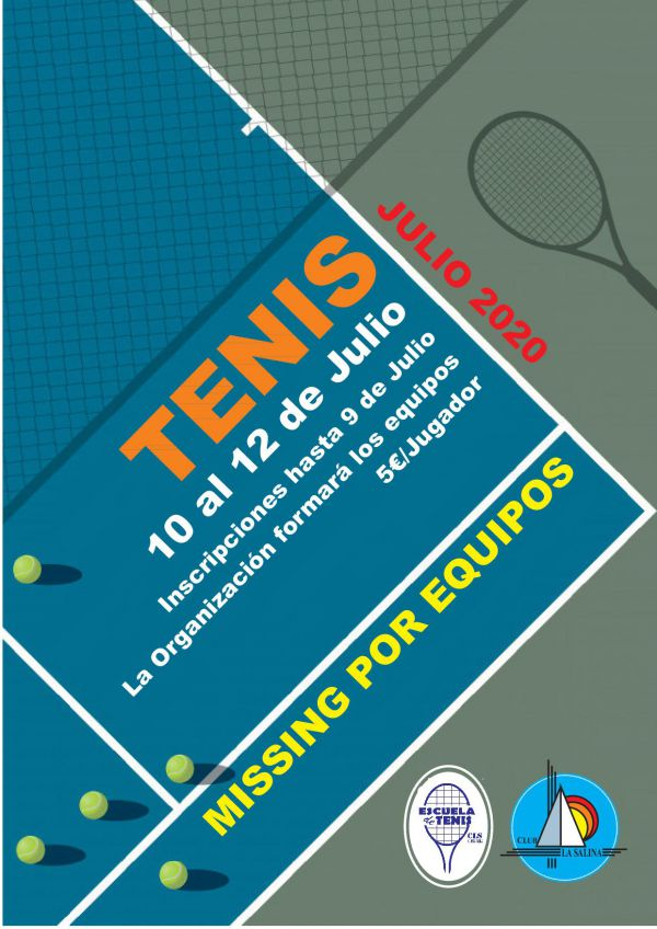 MISSING TENIS POR EQUIPOS