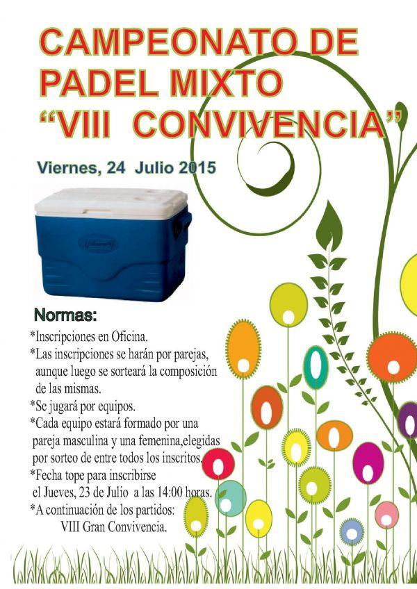 VIII CONVIVENCIA DE PADEL