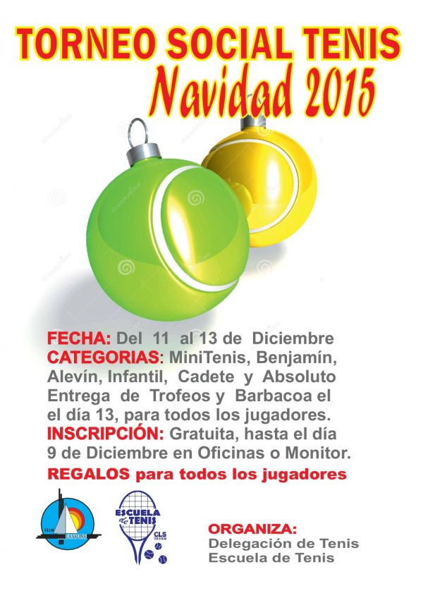 TORNEO SOCIAL DE TENIS NAVIDAD 2015